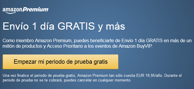 Periodo de prueba gratis amazon premium