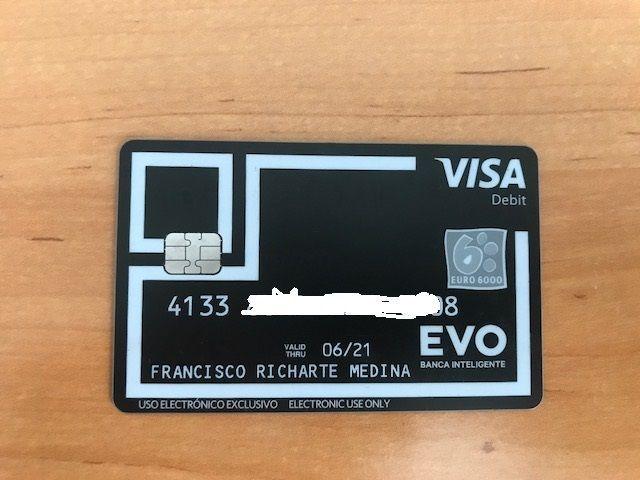 tarjeta evo banco