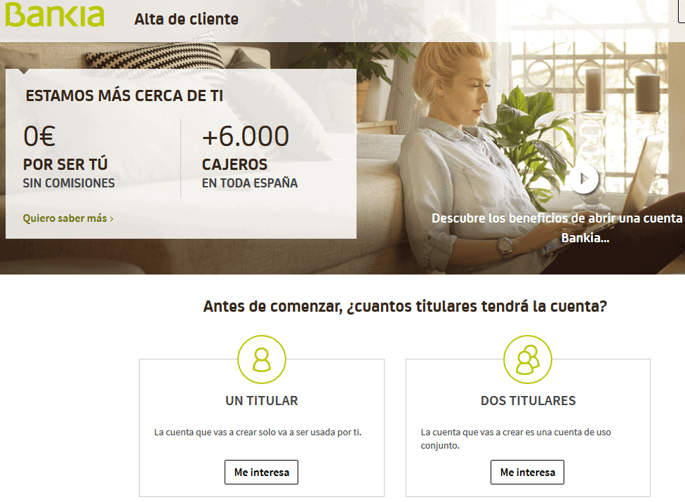 bancos sin comisiones: bankia