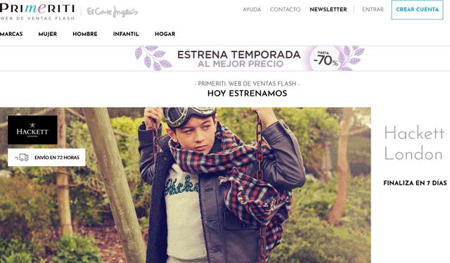Primeriti web de ropa