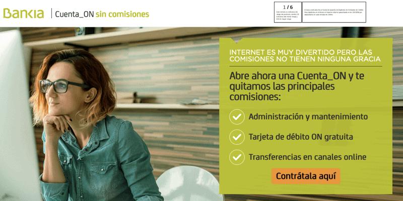 banco online sin comisiones bankia