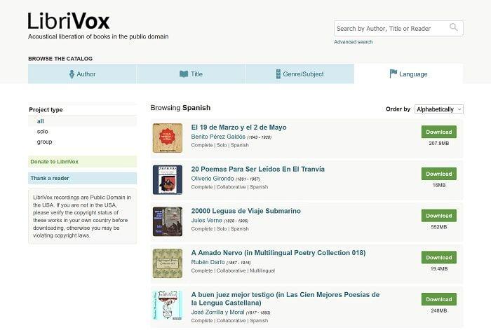 audiolibros para descargar gratis en librivox